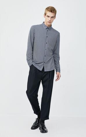 JackJones Men's Cotton Striped Slim Fit Long-sleeved Shirt 220105512