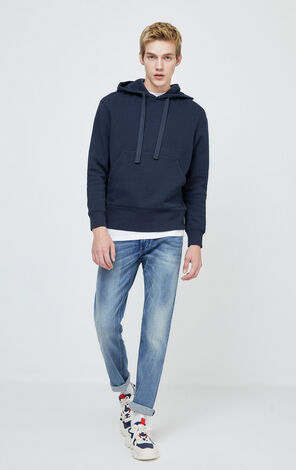 JackJones Men's Winter Cotton Fabric Imported from Italy Washed Straight Fit Jeans| 220132522