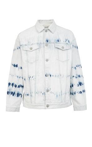 JackJones Men's Spring Tie-dyed Denim Jacket| 220157523