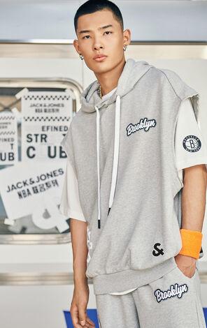 【NBA聯名款】布魯克林籃網隊Logo兩件套背心連T恤
