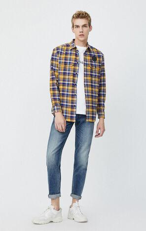 JackJones Men's Spring & Winter Frayed Jeans| 220132524