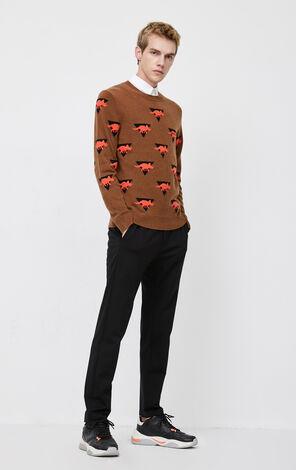 JackJones Men's Winter Round Neckline Dinosaur Pattern Woolen Pullover Knit| 220124506