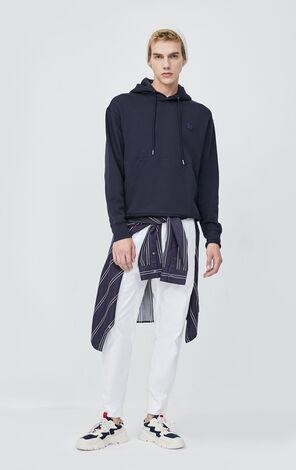 JackJones Men's Spring Loose Fit Cotton Embroidery Patch Long-sleeved Hoodie| 220133502