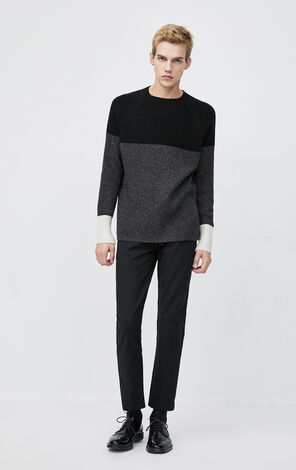 JackJones Men's Autumn & Winter Slim Fit Sheep Wool Round Neckline Assorted Colors Long-sleeved Knit| 220125508