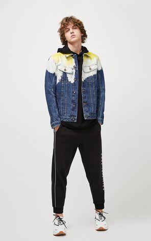 JackJones Men's Spring Cotton Contrasting Tie-dyed Imported Fabric Denim Jacket| 220157502