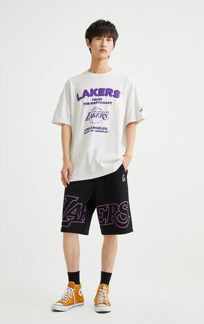 【NBA聯名款】洛杉磯湖人隊立體圖案T恤