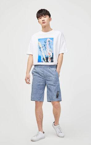 花紋直筒短褲
