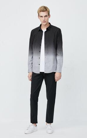 JackJones Men's Autumn & Winter 100% Cotton Gradient Long-sleeved Shirt| 220105517