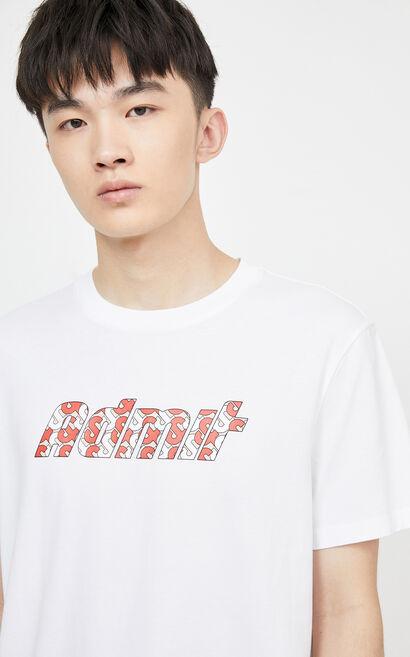 圖案T-Shirt, White, large