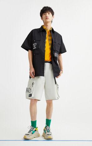 【NBA聯名款】布魯克林籃網隊工裝寬鬆短褲