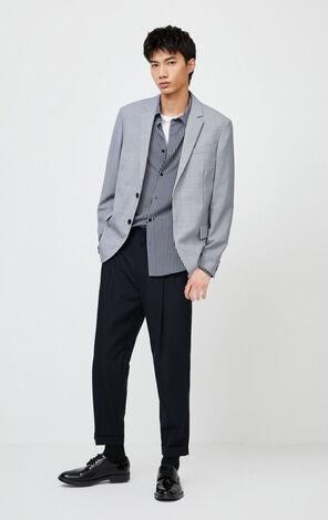JackJones Men's Slim Fit Plaid Suit Jacket| 220108512