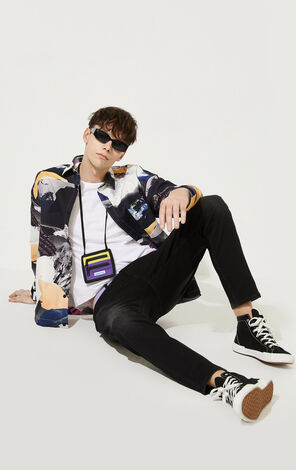 CLOTTEE×JACKJONES Men's Summer Chinese Style Embroidered Characters Jeans| 220332523