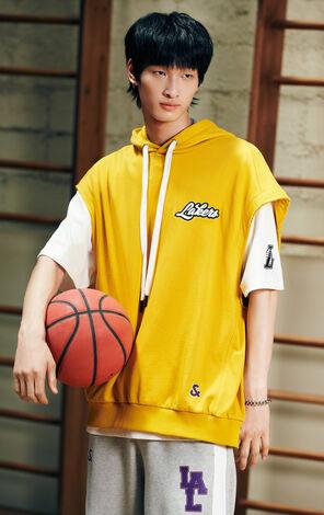 【NBA聯名款】洛杉磯湖人隊Logo兩件套背心連T恤