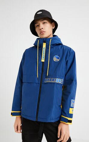 【NBA聯名款】勇士隊撞色連帽外套