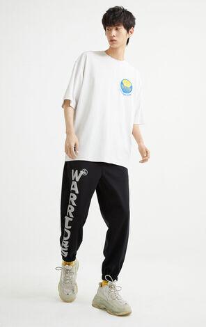 【NBA聯名款】金州勇士隊圖案刺繡T恤