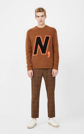 JackJones Men's Round Neckline Woolen Jacquard Weave Knit Sweater| 220125507