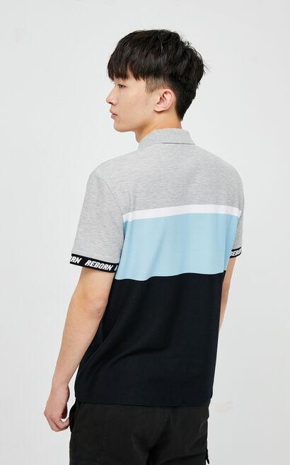 拼色POLO恤, Light Grey, large