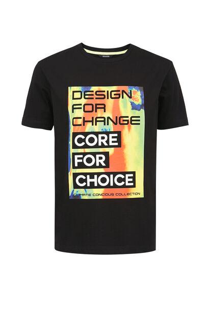 圖案T-Shirt, Black, large