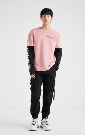 假兩件長袖T-Shirt