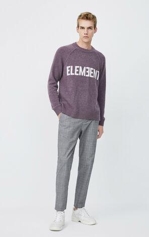 JackJones Men's Spring Loose Fit Letter Print Knit Sweater| 220125509