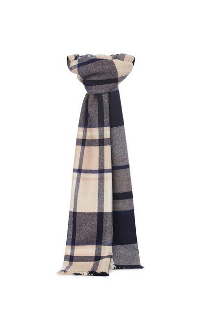 JackJones Men's Winter Plaid Woolen Scarf| 220188504, Champagne, large