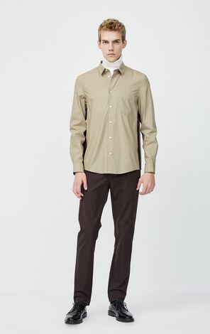 JackJones Men's Stripe Spliced Long-sleeved Shirt 220105516