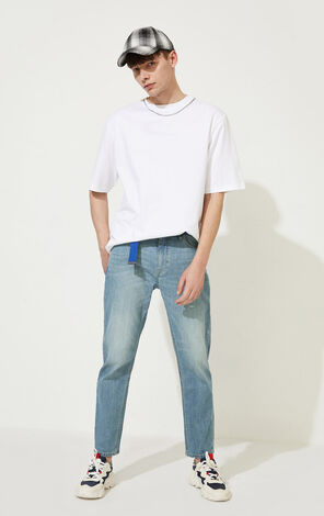 CLOTTEE×JACKJONES Men's Summer Chinese Style Embroidered Characters Jeans| 220332522