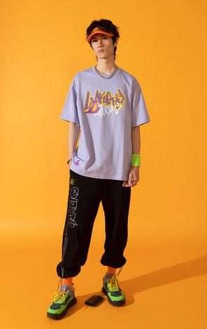 【NBA聯名款】洛杉磯湖人隊塗鴉圖案T恤