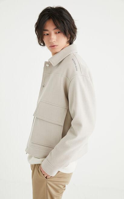 羊絨外套, Light Grey, large