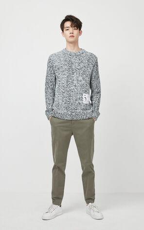 JackJones Men's Spring Round Neckline Contrasting Long-sleeved Knit| 220124524