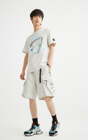 【NBA聯名款】布魯克林籃網隊塗鴉圖案T恤