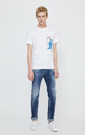 JackJones Men's Winter Stretch Cotton Washed Jeans| 220132509