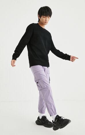 純色圓領針織衫