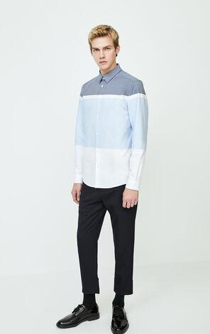 JackJones Men's Winter 100% Cotton Contrasting Spliced Print Shirt| 220105538