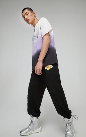 【NBA聯名款】洛杉磯湖人隊漸變反光字母T恤