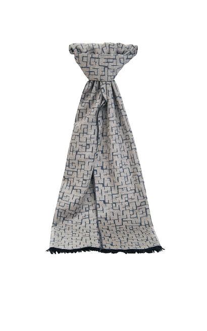 JackJones Men's Spring Contrasting Print Soft Scarf| 220188505, Grey, large
