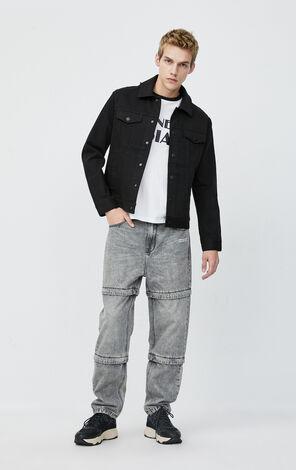 JackJones Men's Winter Black Denim Jacket| 220157515
