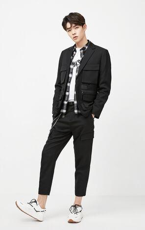 JackJones Men's Spring Pure Color Suit Jacket| 220108510