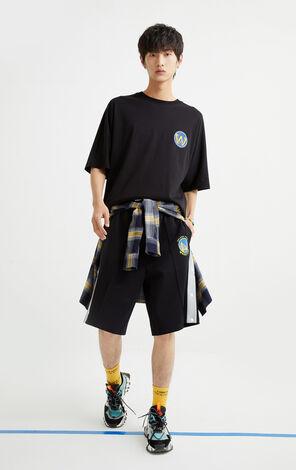 【NBA聯名款】金州勇士隊立體圖案寬鬆T恤